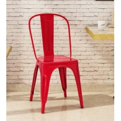 Tolex Cafe Chairs Set Of 2 - Red