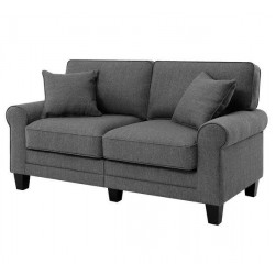 Buxton Rolled Arm Loveseat Sofa